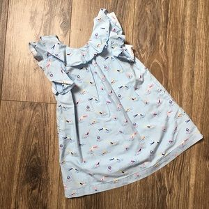 Swimmer pattern dress